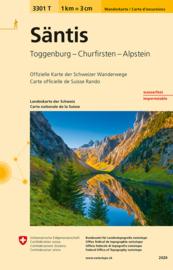 Wandelkaart  Säntis - Santis | Bundesamt 3301T |  ISBN 9783302333014