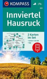 Wandelkaart Innviertel-Hausruckwald | Kompass 201 | 1:50.000 | ISBN 9783990446348