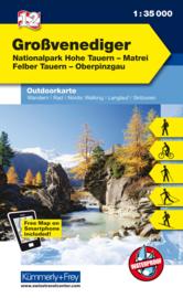 Wandelkaart Grossvenediger | Kümmerly & Frey | 1:35.000 | ISBN 9783259007211