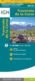 Wandelkaart Corsica - GR20 | IGN | 1:50.000 | ISBN 9782758550792