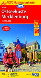Fietskaart Ostseeküste / Mecklenburg nr. 3 | ADFC Radtourenkarte | 1:150.000 | ISBN 9783969900628