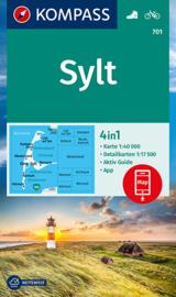 Wandelkaart Sylt | Kompass 701 | 1:40.000 | ISBN 9783990449295