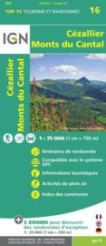 Wandelkaart - Fietskaart Cézallier, Monts du Cantal nr. 16 | ISBN 9782758535843