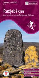 Wandelkaart Radjebalges 2712 | Nordeca | 1:100.000 | ISBN 7046660027127