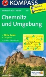 Wandelkaart Chemnitz und Umgebung | Kompass 817 | ISBN 9783850263511