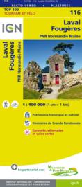 Wegenkaart - Fietskaart Laval - Fougeres | IGN 116 | ISBN 9782758543657