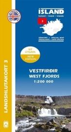 Wegenkaart - Fietskaart Vestfirdir / Westfjorde IJsland 03 | 1:200 000 | Mal og menning | ISBN 9789979333784