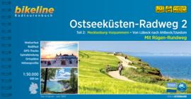 Fietsgids Ostseeküsten Radweg 2 : Lübeck - Usedom - 690 km | Bikeline | ISBN 9783850008365