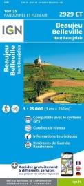 Wandelkaart Beaujeu - Belleville - Haut Beaujolais | Rhônevallei - Bourgondië |  IGN 2928 ET - IGN 2928ET