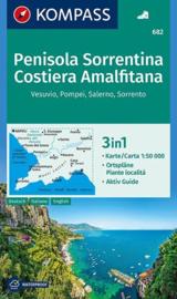 Wandelkaart Penisola Sorrentina, Costiera Amalfitana | Kompass 682 | 1:50.000 | ISBN 9783990444269