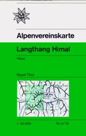 Wandelkaart Langthang Himal West | Alpenverein | 1:50.000