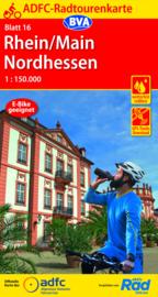 Fietskaart Rhein / Main Nordhessen nr. 16 | ADFC | 1:150.000 | ISBN 9783870739485