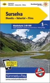 Wandelkaart Surselva 20 | Kümmerley & Frey | 1:60.000 | ISBN 9783259022207