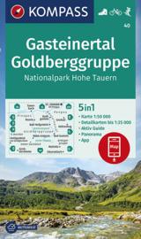 Wandelkaart Gasteinertal - Goldberggruppe | Kompass 40 | 1:50.000 | ISBN 9783990447116