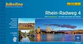 Fietsgids Rhein Radweg 4 : Keulen naar Hoek van Holland - 442 km. | Bikeline | ISBN 9783850008754