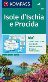 Wandelkaart Isole d`Ischia e Procida | Kompass 680  | 1:15.000 | ISBN 9783850266734