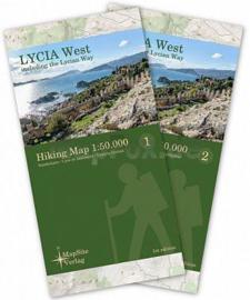 Wandelkaart Lykische weg West - Lycian Way West | Mapsite Verlag | 1:50.000 | ISBN 9783981721614
