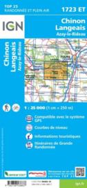Wandelkaart Chinon, Langeais, Azay-le-Rideau | Loire | IGN 1723 ET - 1723ET  | ISBN 9782758538837