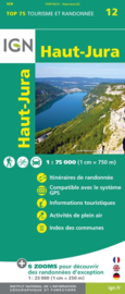 Wandelkaart - Fietskaart Parc naturel régional Haut-Jura nr. 12  | 1:75.000 | ISBN 9782758538554