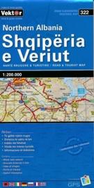 Wegenkaart Albanië Noord - North Albania | Vektor Editions | 1:200.000 | ISBN 9789604487752