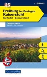Wandelkaart Schwarzwald Freiburg i.Br. - Kaiserstuhl - Feldberg  | Kümmerly & Frey 25 | 1:35.000 | ISBN 9783259009741