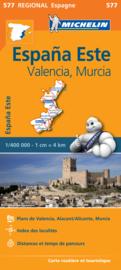 Wegenkaart Valenciana - Murcia - Alicante - Benidorm | Michelin 577 | ISBN 9782067184374