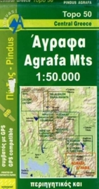 Wandelkaart Southern Agrafa - Pindos gebergte - Limni Plastira | Anavasi 2.5 | 1:50.000 | ISBN 9789608195622
