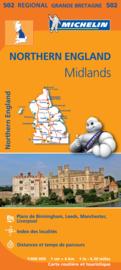 Landkaart - wegenkaart 502 Northern England -Noord Engeland - Kent | Michelin | 1:400.000 | ISBN 9782067183230