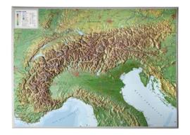 Wandkaart Alpen Relief | GeoRelief | 1:1,2 miljoen | ISBN 4280000002167