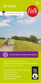 Wandelkaart - Fietskaart - Recreatiekaart De IJssel   Falk 01   1:50.000   ISBN 9789028704565