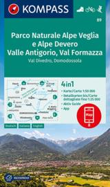 Wandelkaart Parco Naturale Alpe Veglia e Alpe Devero Domodóssola | Kompass 89 | 1:50.000 | ISBN 9783991211150