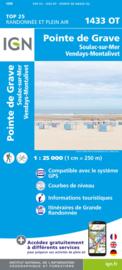 Wandelkaart Soulac-Sur-Mer & Montalivet Point De Grave   Franse Atlantische Kust   IGN 1433OT - IGN 1433 OT    ISBN 9782758551416