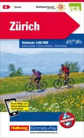 Fietskaart Zürich & omgeving | Kümmerly+Frey nr. 06 | 1:60.000 | ISBN 9783259024065