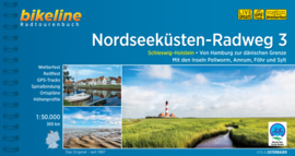 Fietsgids Nordseeküsten Radweg 3 : Hamburg - Deense Grens - 368 km. | Bikeline | ISBN 9783711100078