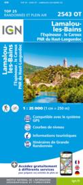 Wandelkaart Lamalou-les-Bains, Olargues, Roquebrun, Le Caroux, PNR du Haut Languedoc | Languedoc |  IGN 2543OT - IGN 2543 OT | ISBN 9782758546528