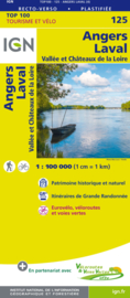 Wegenkaart - Fietskaart Angers - Laval | IGN 125 | ISBN 9782758543718