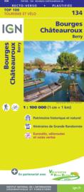 Wegenkaart - Fietskaart Bourges - Chateauroux | IGN 134 | ISBN 9782758547570