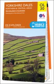 Wandelkaart Yorkshire Dales- North & Central Area`s| OL30 Explorer Maps | Ordnance Survey | 1:25.000 | ISBN 9780319263358