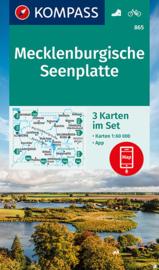 Wandelkaart Mecklenburgische Seenplatte 3-delige set | Kompass 865 | 1:60.000 | ISBN 9783991212959