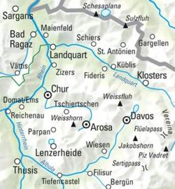 Wandelkaart Davos - Arosa 13 | Kümmerly + Frey | 1:60.000 | ISBN 9783259022139