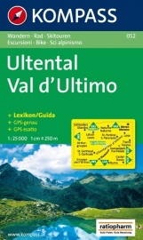 Wandelkaart Ultental - Val d'Ultimo | Kompass 052 | 1:25.000 | ISBN 9783850267304