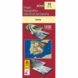 Wandelkaart - Topografische kaart Llanes | 1:50.000 | CNIG 32 | ISBN 9788441656338