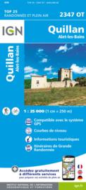 Wandelkaart Quillan, Alet-les-Bains, Couiza, Rennes-les-Bains, Esperaza | Pyreneeën |  IGN 2347OT - IGN 2347 OT | ISBN 9782758545354