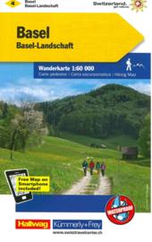 Wandelkaart Basel - Aarau |  Kümmerly + Frey 4 | 1:60.000 | ISBN 9783259022047
