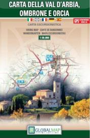 Wandelkaart Carta della Val dÁrbia, Ombrone e Orcia - Toscane | Global Map | 1:50.000 | ISBN 9788879144995