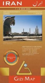 Wegenkaart Iran | Gizi Map | ISBN 9789638703026