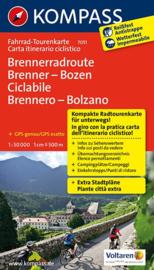 Fietskaart Brenner - Bozen / Bolzano   Kompass 7051   1:50.000   ISBN 9783850268554