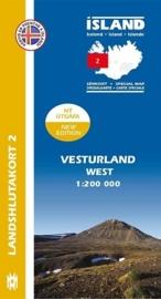 Wegenkaart - Fietskaart Vesturland / West IJsland 02 | 1:200 000 | Mal og menning | ISBN 9789979333777