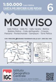 Wandelkaart Monviso | IGC nr. 6 | 1:50.000 | ISBN 9788896455593