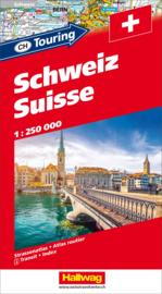 Wegenatlas Zwitserland | Hallwag | 1:250.000 | ISBN 9783828300484